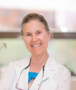 Dr. Bonanni in her practice