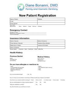 New Patient Registration Form Dr. Bonanni pdf