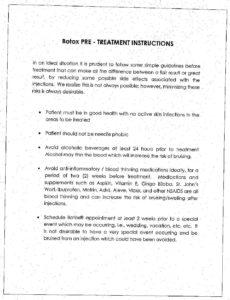 Pre Botox Instructions pdf