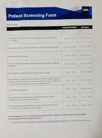 Covid 19 Screening Form image